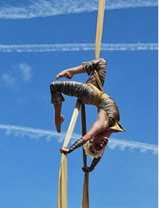 aerial silks acts and trapeze artists for hire